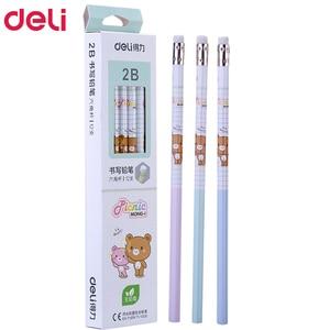 Image 1 - 72pcs kawaii עץ עפרונות 2B HB חמוד rilakkuma עיפרון עם מחקי עיפרון באיכות גבוהה עבור בית ספר ילדי כתיבה מכתבים מתנה