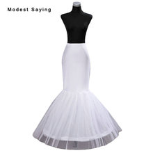 2018 Elegant High Quality 1 Hoop Petticoat Underskirt For Mermaid Wedding Dresses and Bridal Gowns Wedding Accessories Crinoline