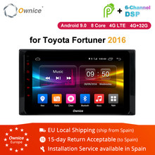 Ownice K1 K2 K3 2Din Octa Core Android 8.1 Radio GPS Car DVD Stereo Player for Toyota Fortuner 2016 navigation 2G+32G RDS 4G LTE(China)