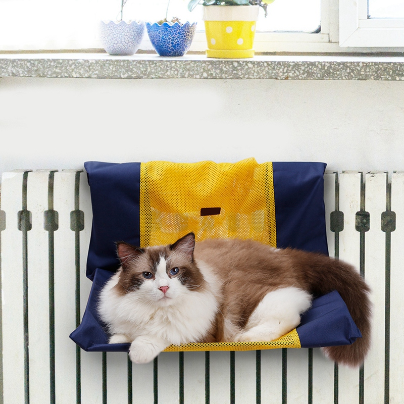 Cat Bed Removable Window Sill Cat Radiator Bed Hammock Perch Seat Lounge Pet Kitty Hanging Bed Cosy Cat Hammock Mount Pet Seat Petnr