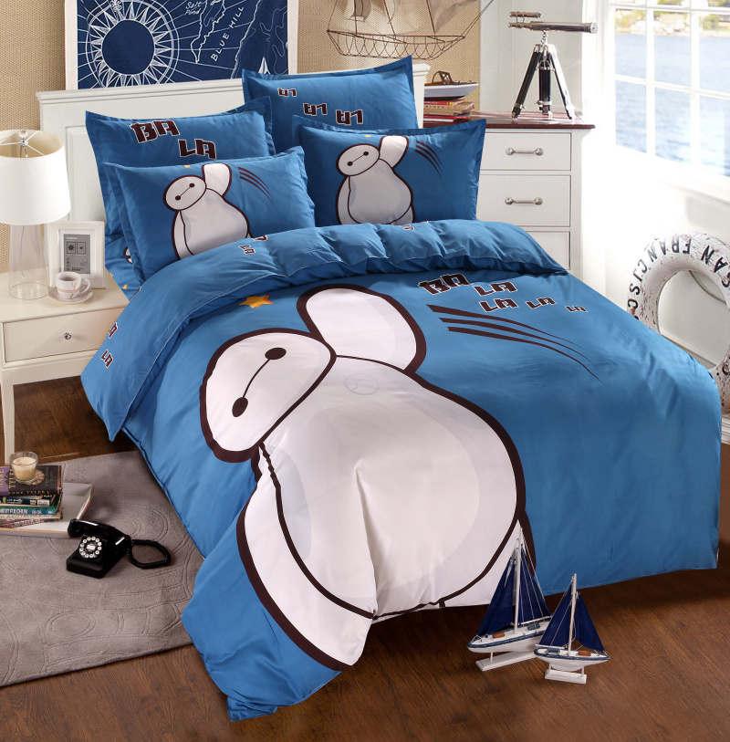 Us 38 47 19 Off Big Hero Baymax Bedding Set Queen Full Size Cartoon Quilt Duvet Cover Kids Boy Child Flat Sheet Set 3d Bed Linens New Bedspread In