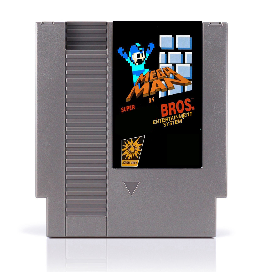 Mega Man In Super MRO Bros. 8 Bit Game Card for 72 Pins Game Player image