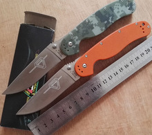 RAT Model 1 AUS-8 Blade Pocket knife G10 Handle Folding knife Tactical Survival Camping Hunting knife EDC Utility Tools