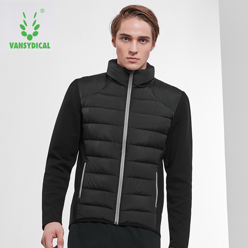 Vansydical Winter Warm Sports Down Coat Mens Stand Collar Windproof Sportswear Tops Fitness White Duck Down Running JacketsVansydical Winter Warm Sports Down Coat Mens Stand Collar Windproof Sportswear Tops Fitness White Duck Down Running Jackets