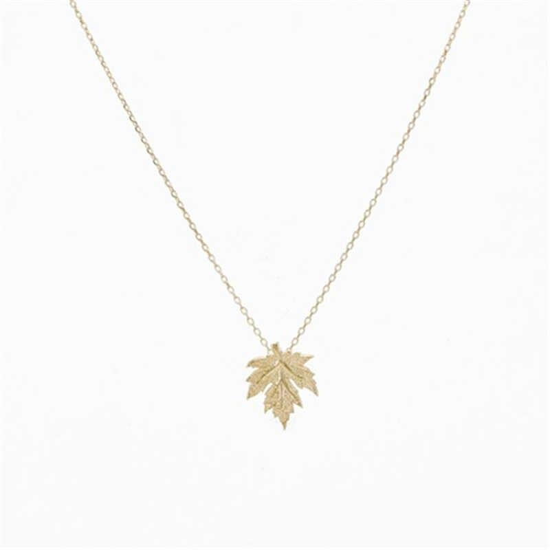 أوراق قلادة في الذهب و الفضة داينتي اليدوية قلادة مجوهرات اكسسوارات كندا مابل ليف قلادة قلادة