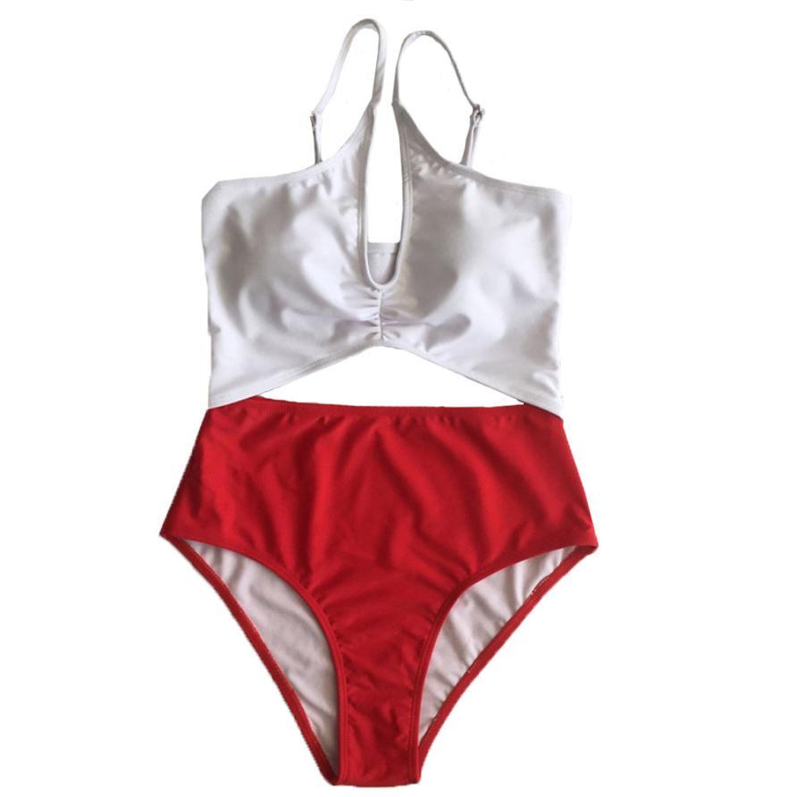 snowshine3 YLI Women Push-Up Padded Bra Beach Bikini Set Swimsuit Sexy Siamese Swimwear
