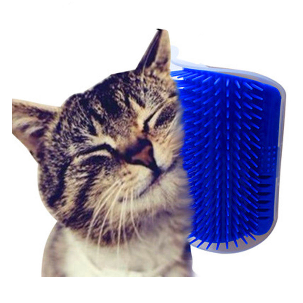 Pet Cat Self Groomer Tool Hair Removal Brush Comb for Dogs Cats Toys Pet Hair Shedding Trimming Cat Massage Device with Catnip