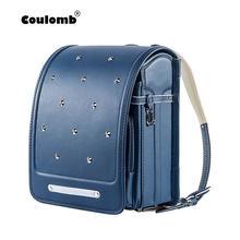 821d2a0a5e2a (Отправка из RU) Coulomb ортопедический рюкзак школьный для девочки рюкзаки  для школы ортопедический рюкзак Randoseru кожа Япония сумки рюкзак де.