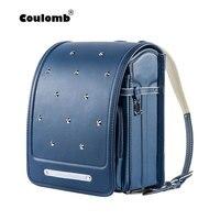 Coulomb ортопедический рюкзак школьный для девочки рюкзаки для школы ортопедический рюкзак Randoseru кожа Япония сумки рюкзак детский портфели шк