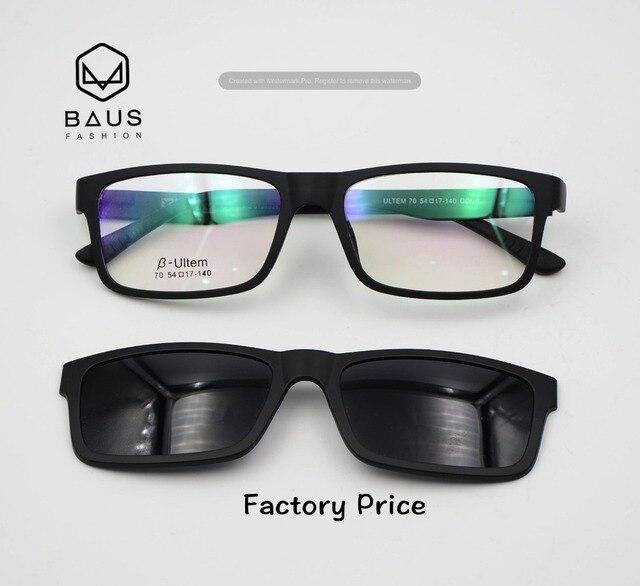 d08349efaf7 PK 77 ULTEM Sunglasses Magnetic Clip On Sunglasses Optical frames with  magnetic sunglasses Polaroid prescription eyeglasses