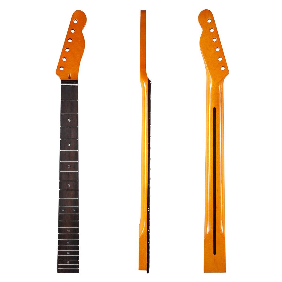 KAISH 22 frette manche de guitare télé érable canadien avec touche en palissandre incrustation d'ormeau et écrou d'os pour Telecaster