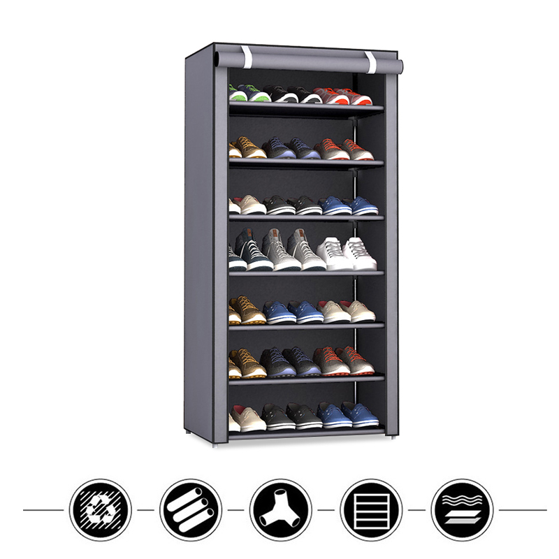 Nonwoven Fabric Storage Shoes Rack Minimalist Modern Easy Assembly Living Room Shoes Organizer Furniture Dustproof Shoe CabinetNonwoven Fabric Storage Shoes Rack Minimalist Modern Easy Assembly Living Room Shoes Organizer Furniture Dustproof Shoe Cabinet