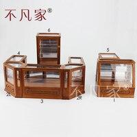 Кукольный 1/12th Весы миниатюрная мебель высокого качества витрина магазина комплект
