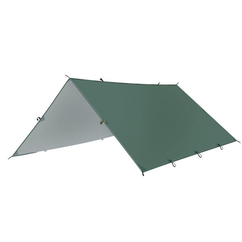 3mx3m Beach Sun Shelter Tarp Waterproof Tent Shade Ultralight UV Garden Awning Canopy Sunshade Outdoor Camping Hammock Rain Fly
