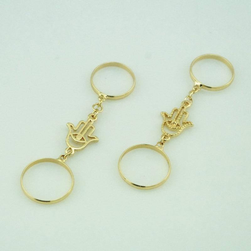 2015 Gold silver Color Midi Ring Set Fatima Eyes Hand Bergamot