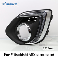 SMRKE DRL For Mitsubishi ASX 2012 2016 Three Colour Car LED Daytime Running Lights With Turn