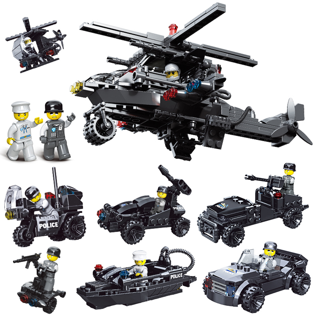 New Arrive Durable Small Particle Diy Puzzle Assembly Special Policeman Sdu Doll Building Block Toys For Children Playing Kits Toys & Hobbies