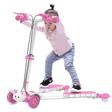 2018 Wnnideo Child New Kids Foot Scooter Skate Board Safe Training Four Wheels Pink Blue