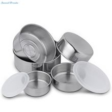 Sweettreats 5 Piece Thicken Stainless Steel Bowl Set With Lids Durable Salad Vegetables Bowl Gadgets Eco-Friendly Kitchen Tool