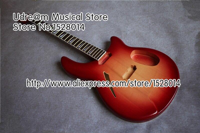 Boutique sur mesure 4 cordes Rick Suneye guitare basse Kit en cerise Sunburst 22 frettes palissandre touche guitare cou