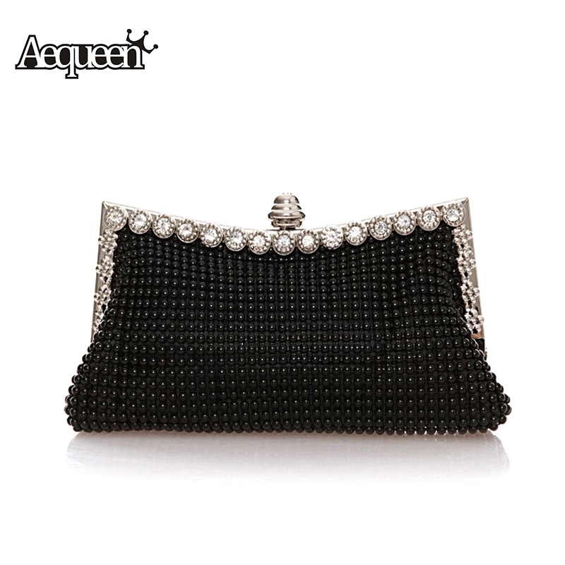 Ladies Evening Clutch Bags Diamond 2017 Women Evening Bag Beaded Day Clutches Party Purse Shinestones Banquet Wedding Shoulder aequeen evening clutch bags women wedding party bags retro shoulder bags ladies day clutches diamond chains handbag