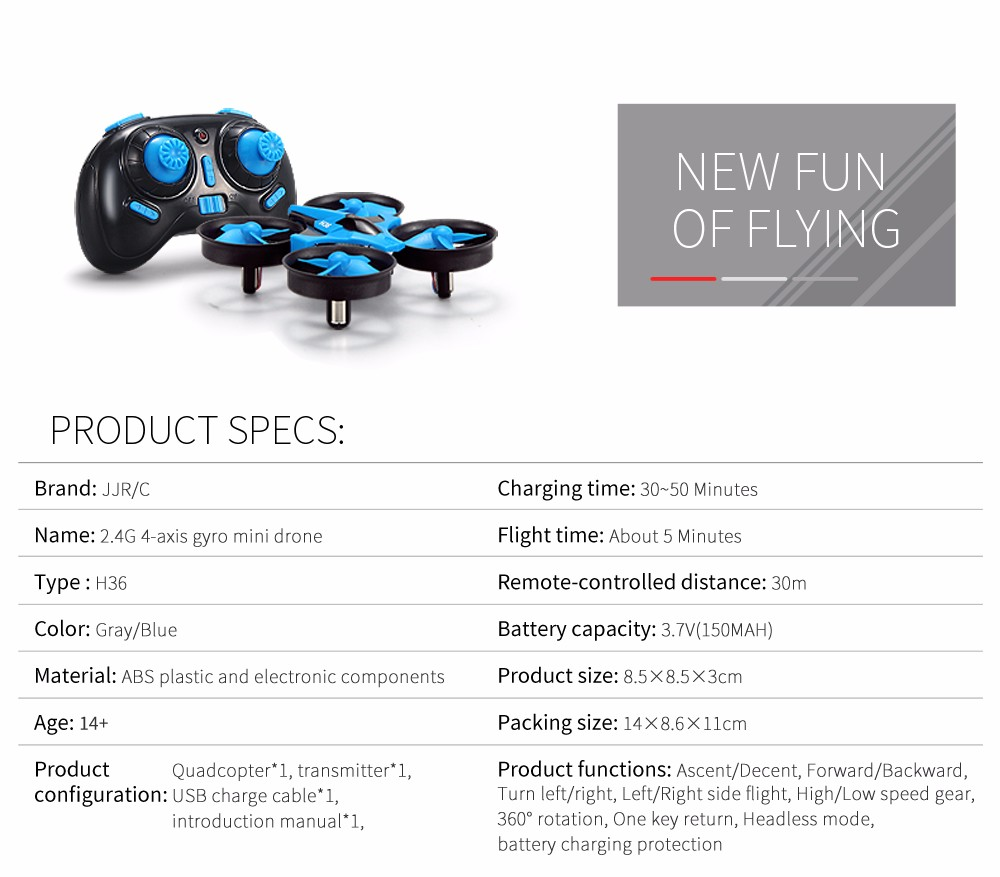 2.4G JJRC H36 Quadcopter 13