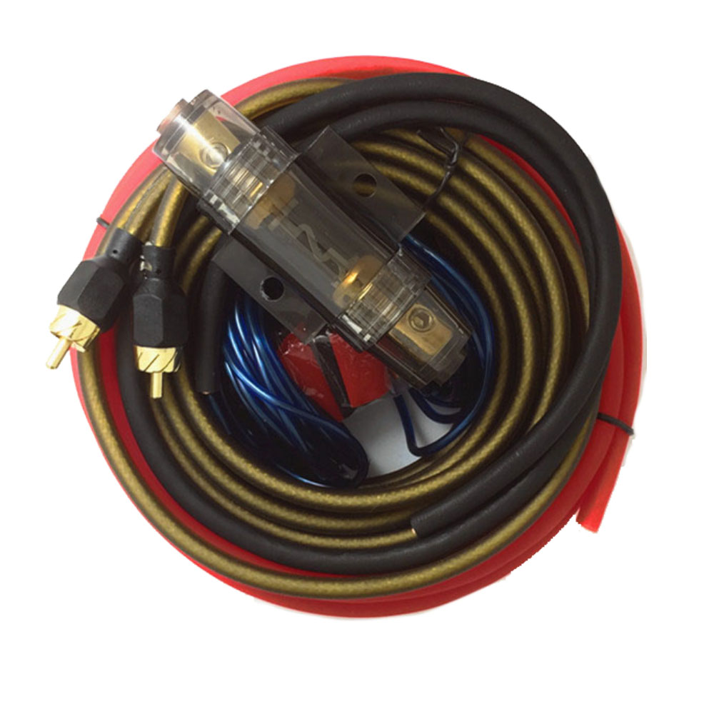 Hot Sale Audio Wire Cable Kit Subwoofer Amplifier Speaker Car Wiring Installation 8ga Power With Fuse Holder