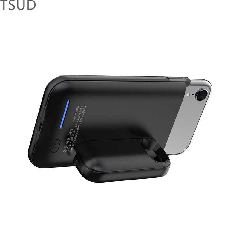 3000mah external holder magnetic charger case for iphone 6 6s 7 8 portable wireless charging cover for iphone 6 6s 7 8 luxury in Battery Charger Cases from Cellphones Telecommunications