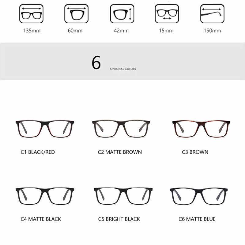 Классический Винтаж оправа для очков Для мужчин игровой рецептурная оптика очки для работы за компьютером близорукость прозрачные мужские очки вогнуто-Выпуклое стекло, Vue UV400