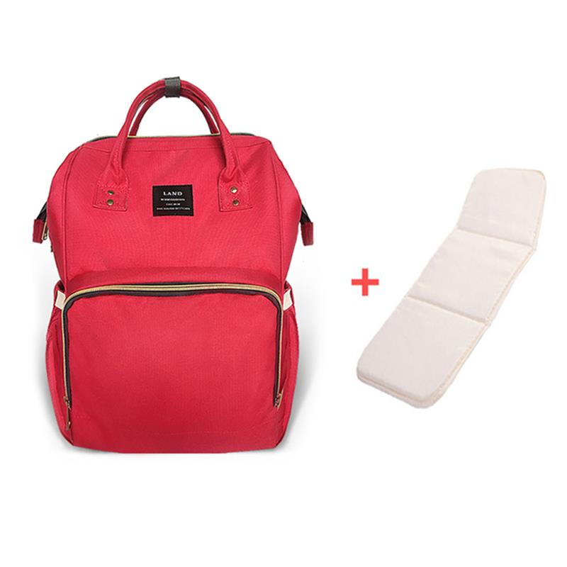 Upgrate LAND Diaper Bag Mummy Maternity Nappy Bag Brand Large Capacity Baby Bag Travel Backpack Nursing