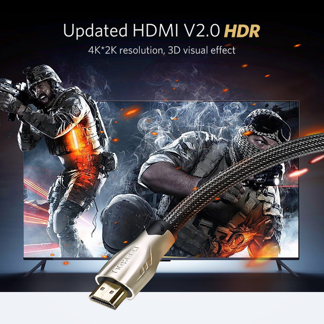 Ugreen HDMI Cable 4K HDMI to HDMI 2.0 Cable Cord for PS4 Apple TV 4K Splitter Switch Box Extender 60Hz Video Cabo Cable HDMI 1