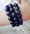Free Shipping Star hand catenary restoring ancient ways Blue sandstone accumulate stone bracelet lovers vows fashion accessories