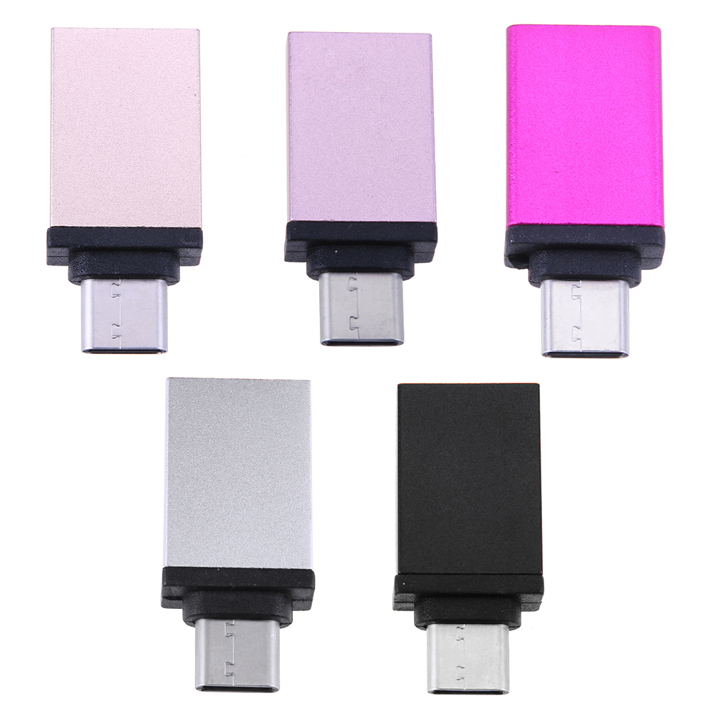 Aluminum Alloy Male USB 3.1 Type-C to Female USB 3.0  OTG Converter Adapter Metal Data Transfer Connector for Macbook for Chrome aluminum alloy metal usb 3 0 male to type c female adapter usb a to usb c cable converter connector