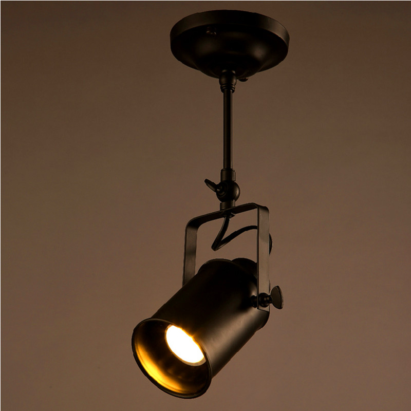 Loft vintage led track lights wrought iron ceiling lamps clothing loft vintage led track lights wrought iron ceiling lamps clothing bar spotlight industrial american style rod spot lighting in track lighting from lights aloadofball Choice Image