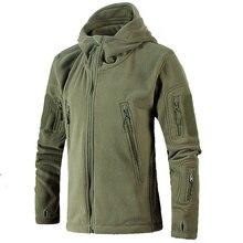 Новый Для мужчин флис тактическая куртка Зимние военные Multipocket утепленная Повседневная куртка с капюшоном пальто Для мужчин тонкий пальто больших размеров Верхняя одежда BF5578