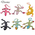 6PCS 7-inch Lizard Mixed Static Model Simulation Software Lizard Animal Toys Tricky Props toys Animal Model PVC Action Figures