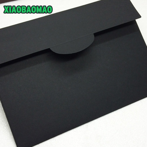 20pcs / Set Thick Vintage Black Paper Window Envelope 229x162mm Gift Envelope