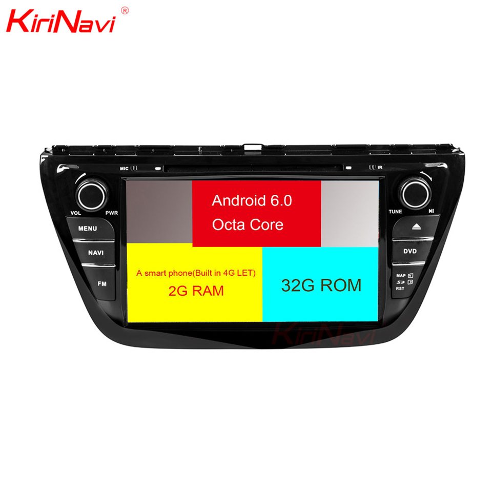 KiriNavi Octa core 4G LET android 7 car audio system for Suzuki S Cross SX4 navigation support 4K Video 4G