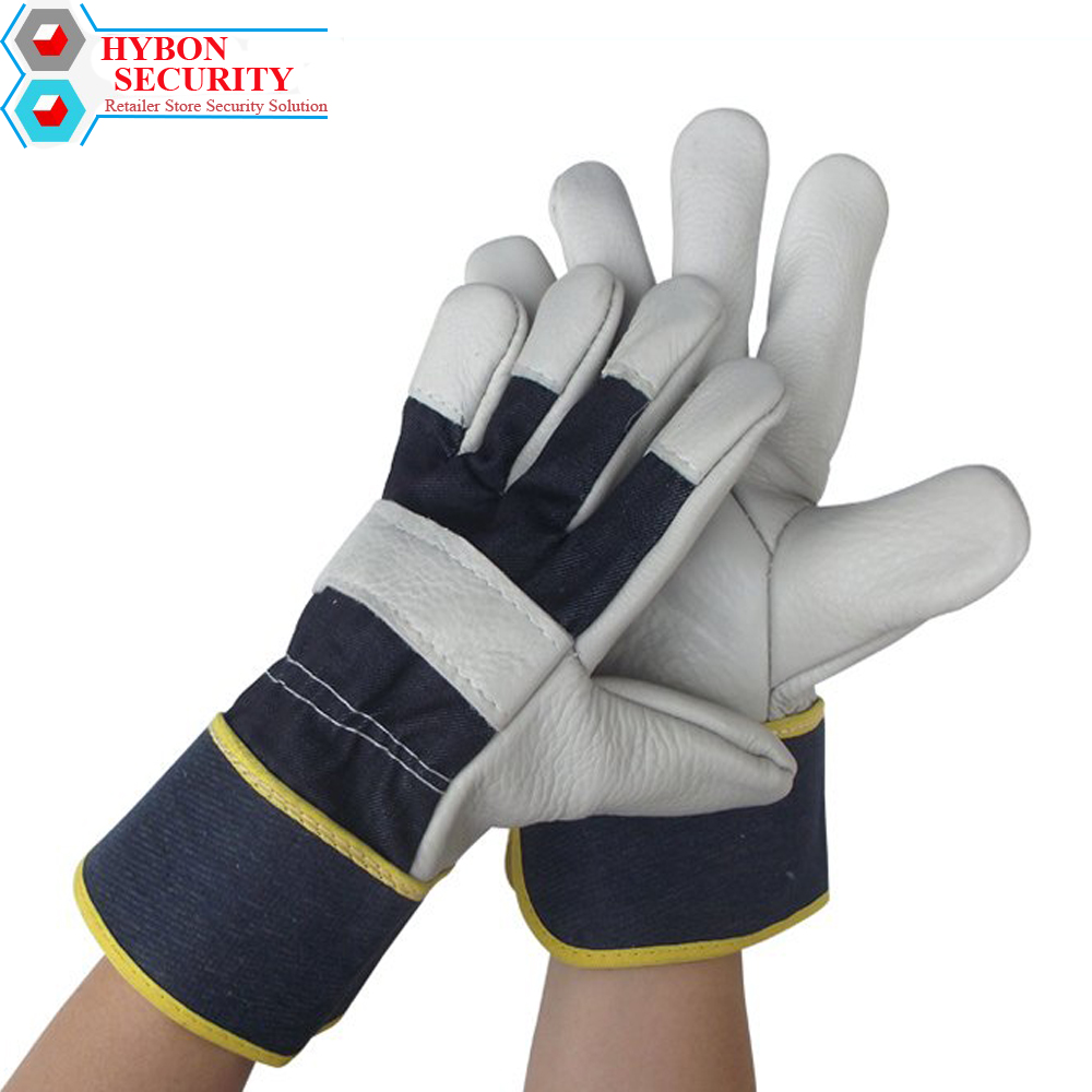 HYBON Welders Work Leather Antistatic Gloves Guantes Antiestaticos Electronica Safety Working Protector Welding Leather Gloves