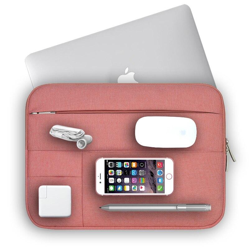 Luva do portátil para Macbook Pro Ar 13 Case Capa Mulheres Homens Saco Do Portátil para Mac Pro 15 Sólida Caso Notebook saco 14 15.6 Polegada