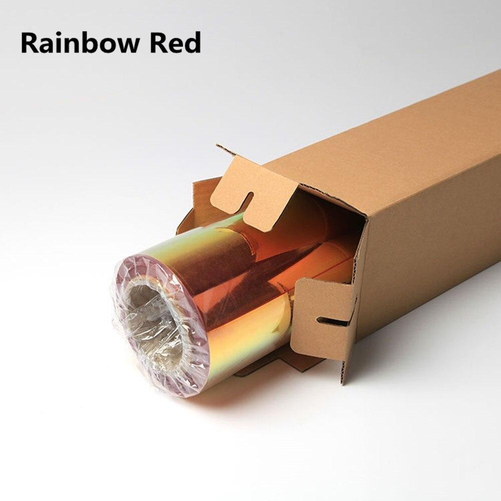 50 см* 100 см Нео хром голографическая теплопередача виниловая футболка виниловая Железная на ПЭТ Материал 20 ''x 39,37'' - Цвет: red