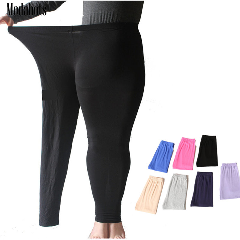 Colorful Modal Big Leggings Women Summer Pants Plus Size Candy Color Leggings Big Women Pants Bodycon Large Big Sizes Pants