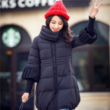 Wadded Jacket For Women Nice Female Cotton Padded Coat A-Line Thread Cuff Warm Winter Long Parkas Women Plus Size 2XL HJ211