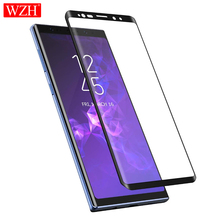WZH 5D full coverd tempered glass for samsung galaxy note 9 8 s9 s8 plus s6 edge s 9 screen protector film cristal templado цены