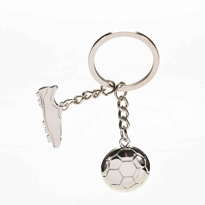 Jettingshop zapatos de fútbol únicos bola de fútbol acero inoxidable Metal llavero anillo regalo