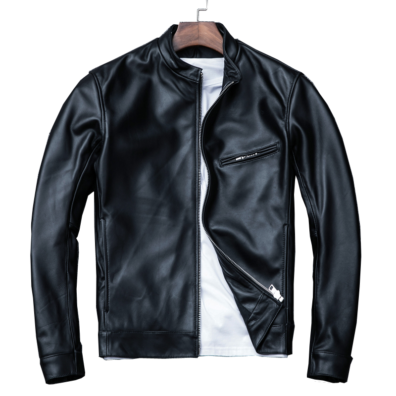 Free Shipping,Brand New Mens 100% Genuine Leather Jackets,man Slim Sheepskin Jacket,casual Style Soft Leather Coat,sales.
