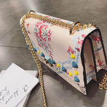 Ladies Bags Small Rivet Handbags 2017 Women Summer Printed Embroidery Female Chain Shoulder Bag Fashion Messenger Bags Purse