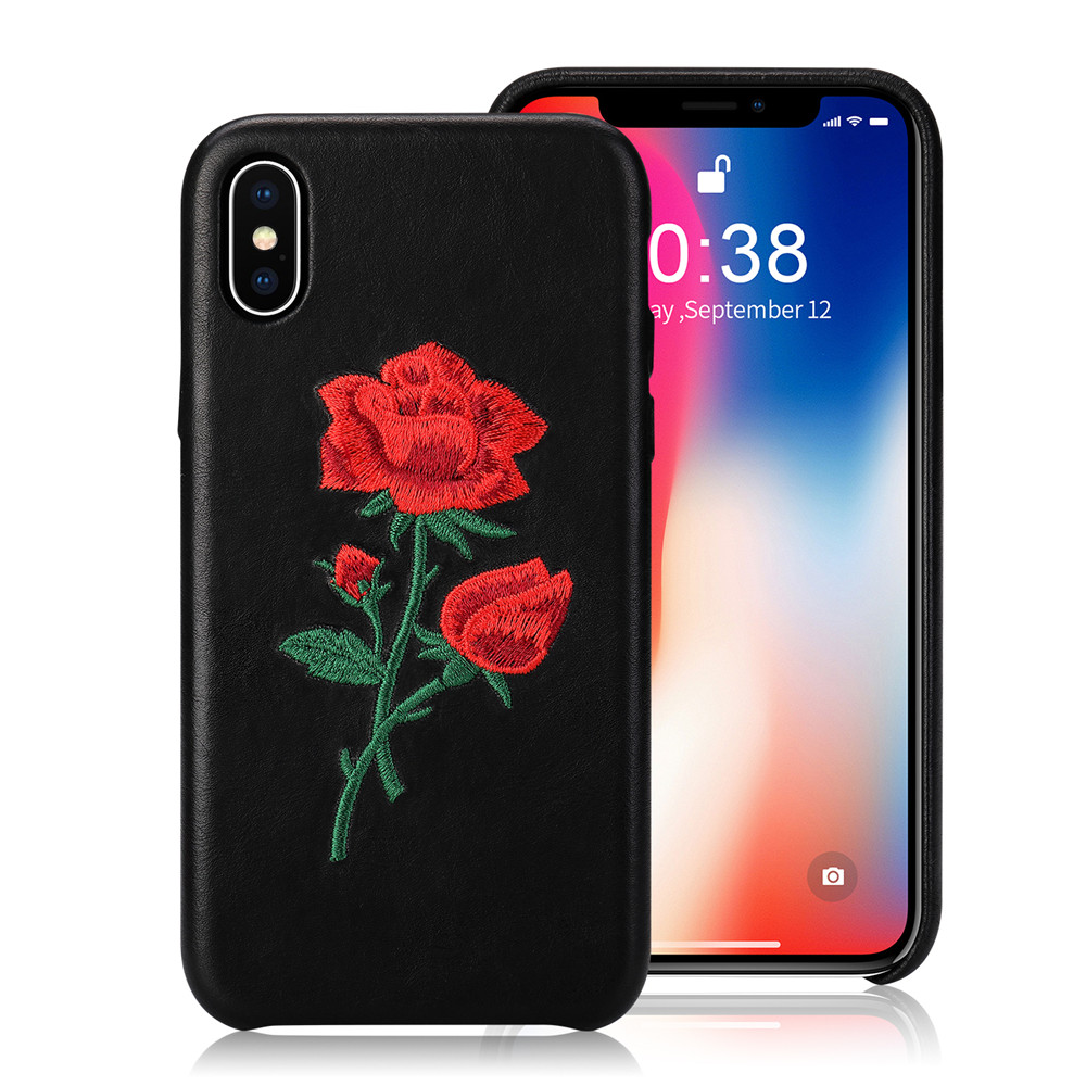 Mobile Phone Case X 5.8 Inch Floral Rose Embroidery
