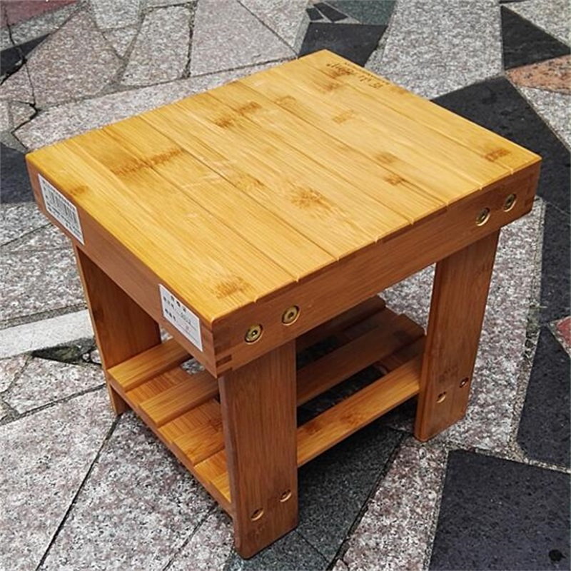 27*23*26cm Bamboo Small stool Leisure stool Children's Stools bamboo bamboo portable folding stool have small bench wooden fishing outdoor folding stool campstool train