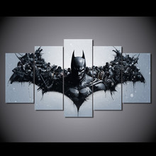 5 panel HD printed modular canvas painting Batman canvas print art modern home decor wall art pictures for living room F0315